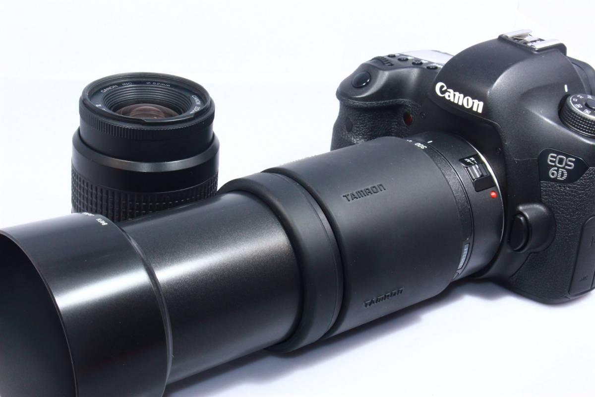 ■超極上■キャノン CANON EOS 6D 超望遠 300mm ダブルレンズセット