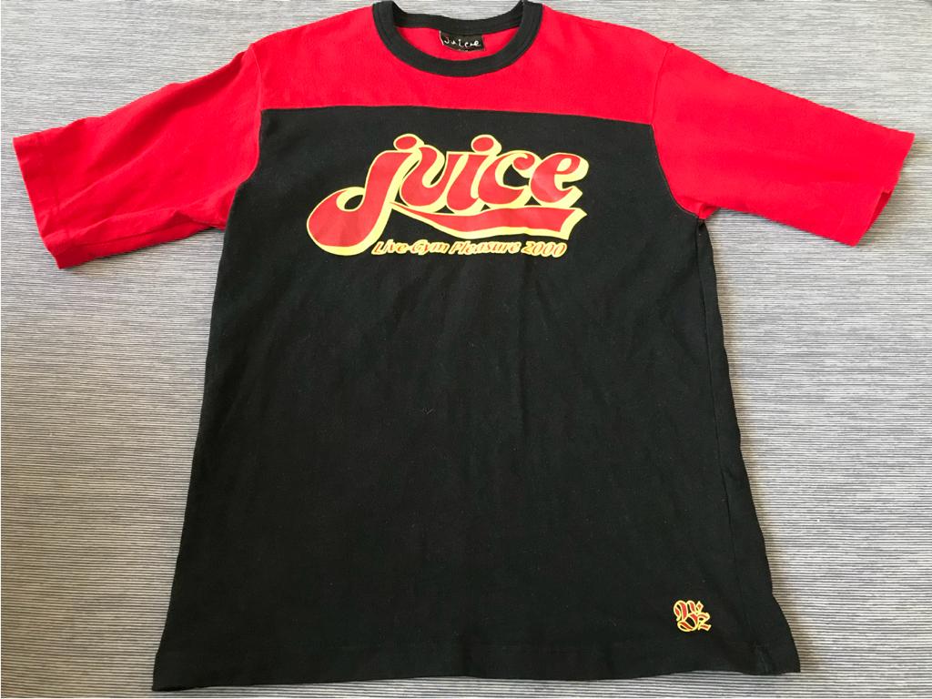 B'z ビーズ ELEVEN LIVE-GYM PLEASURE 2000 Juice 稲葉浩志 松本孝弘 ロックTシャツ
