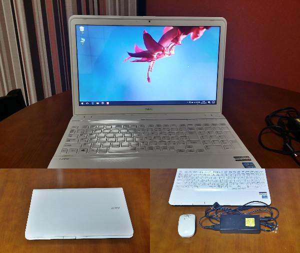 【中古】NEC Lavie LS550/J  windows10 Core i7 プロセッサー ブルーレイドライブ SDカードスロット 無線LAN