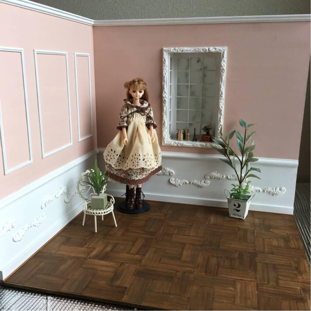 ☆【1/6サイズ Room ハドンホールフロア!】組立・分割式!☆ドールハウス/ブライス/momoko/ジェニー/リカちゃん/ハンドメイド☆