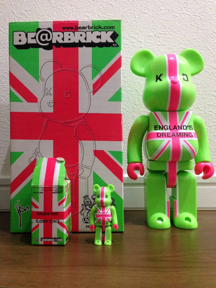 【中古品】KD ENGLAND'S DREAMING BE@RBRICK★ベアブリック400%&100%セット★ ライブ・イベントグッズの画像