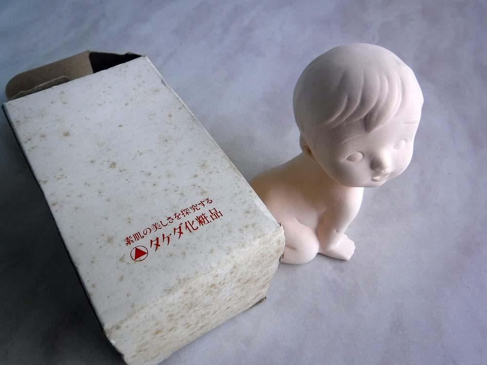 スプリエ愛の人形タケダ化粧品レトロ古いビンテージ看板キャラクター広告アドバタイジング非売品です。_画像1