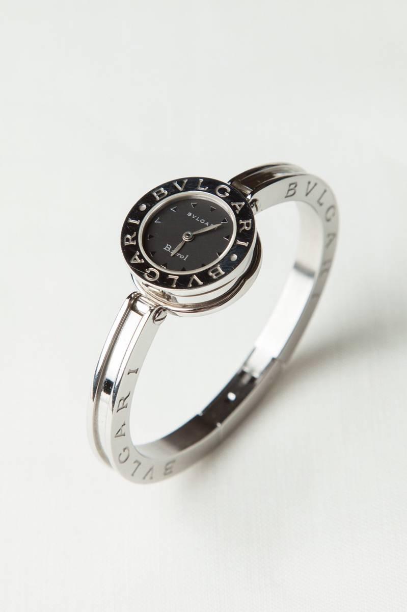 美品 本物 ブルガリ レディース 腕時計 バングルウォッチ B-zero1 ビーゼロ ワン 黒文字盤 シルバー_画像2