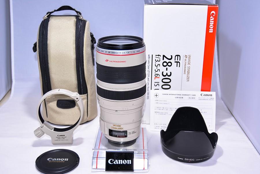 ★ほぼ未使用の新品級★キヤノン Canon EF28-300mm F3.5-5.6L IS USM★保証書、元箱など