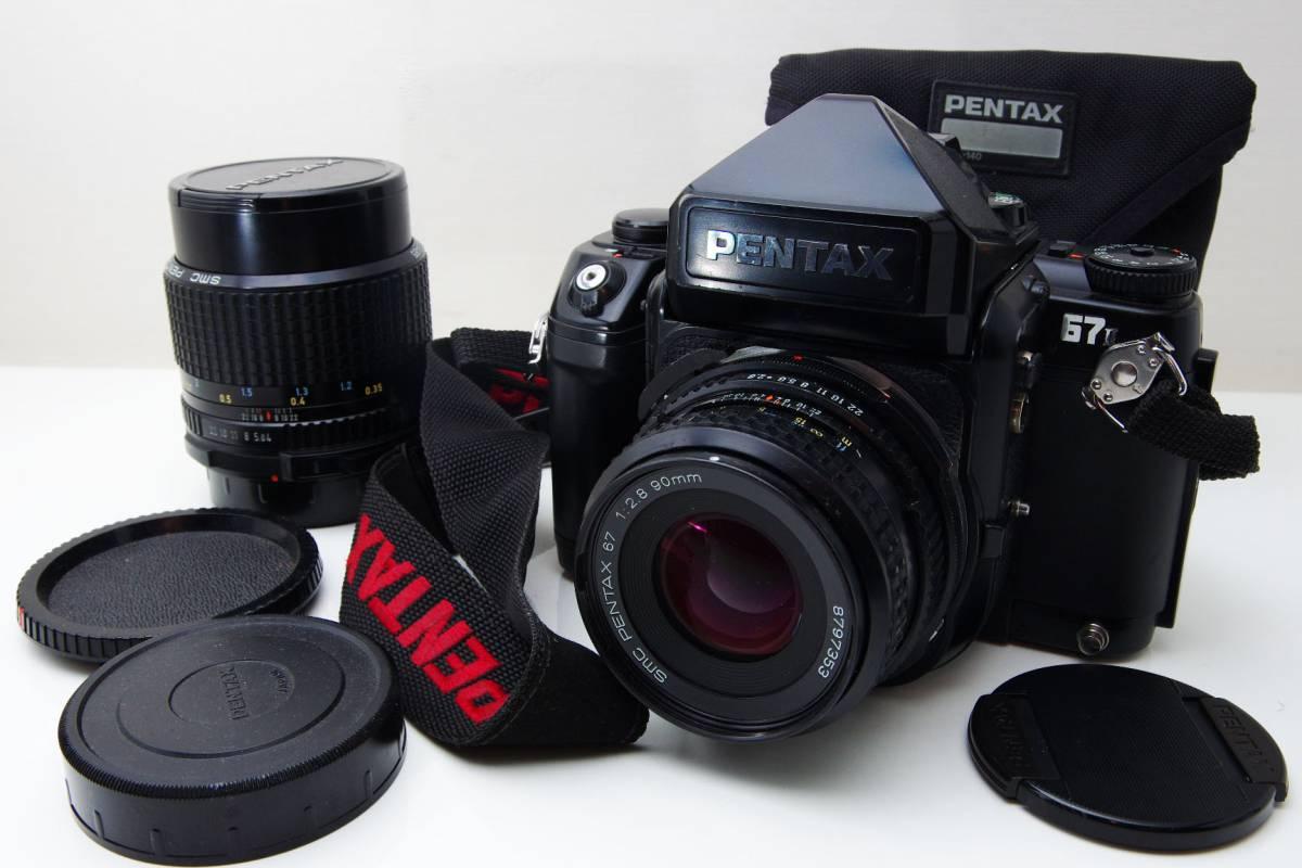PENTAX ペンタックス 67II 67 II 6x7 SMC Pentax 1:2.8 90mm / 1:4 55mm レンズ二本付き レンズケース 取扱説明書