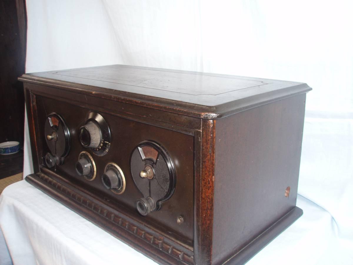 真空管ラジオ 昭和初期型 横型受信機 昭和レトロ 骨董品 ジャンク品_画像2