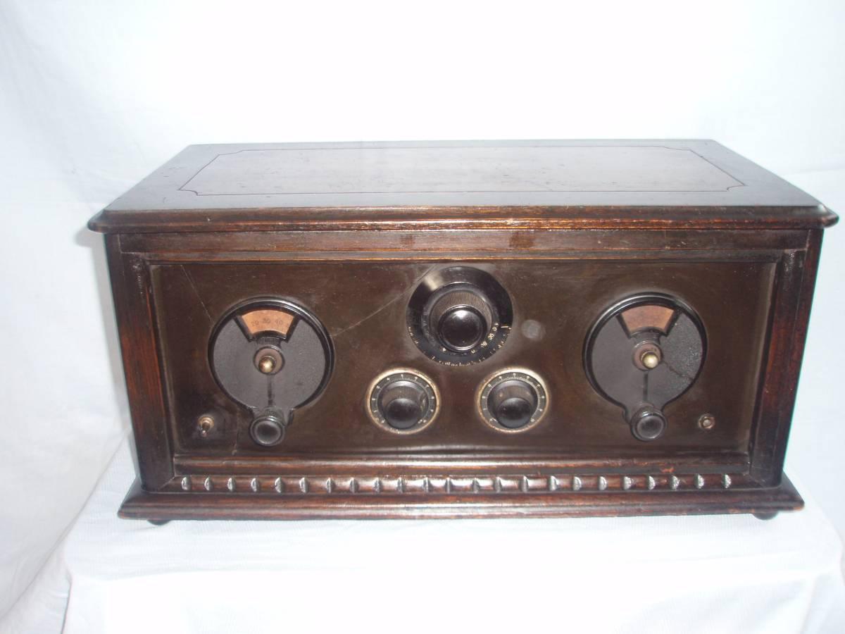 真空管ラジオ 昭和初期型 横型受信機 昭和レトロ 骨董品 ジャンク品