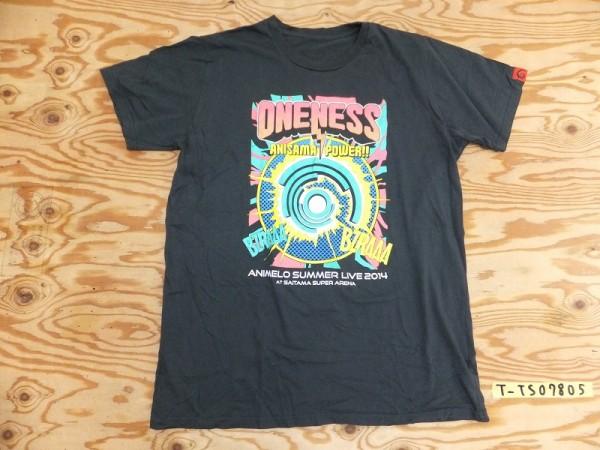 ANIMELO SUMMER アニメロサマーライブ2014 半袖Tシャツ メンズ 大きいXL ダークグレー