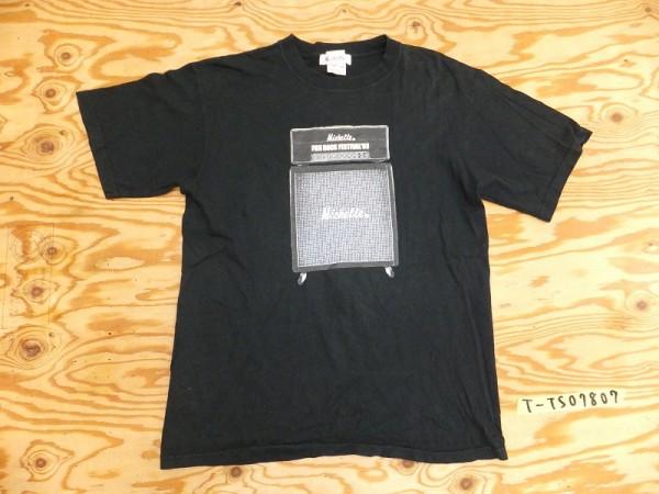 フジロックフェスティバル 03 × THEE MICHELLE GUN ELEPHANT ミッシェルガンエレファント 半袖Tシャツ メンズ 黒 M ライブグッズの画像