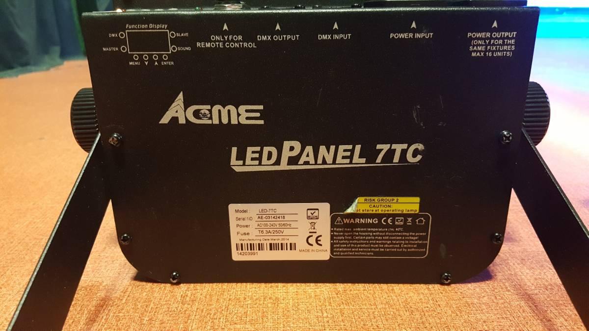 14台セット!即決なら送料無料!舞台照明 VERSIA(ACME)  パネル型 LED パーライト  LED-7TC  DMX 中古 1台辺り新品定価3万程度 _画像2