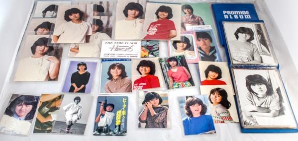 貴重 47枚 ファンクラブ 薬師丸ひろ子 生写真 プロマイド ポストカード ラミネートカード 昭和アイドル