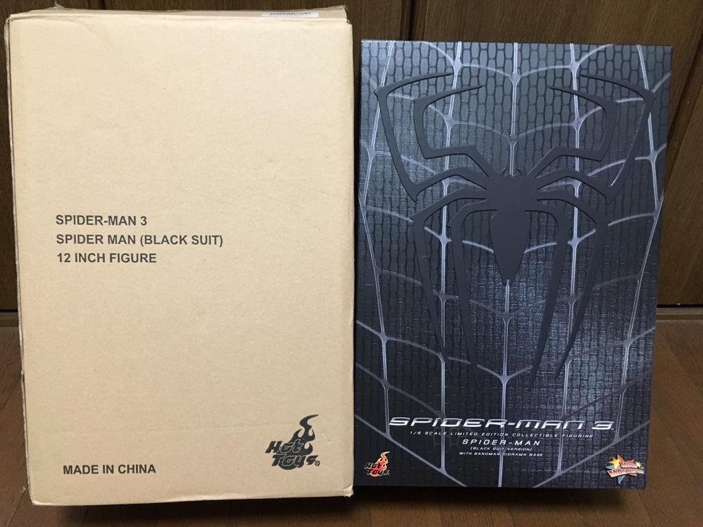 【開封品】ホットトイズ1/6 スパイダーマン3 ブラック・コスチューム版 グッズの画像