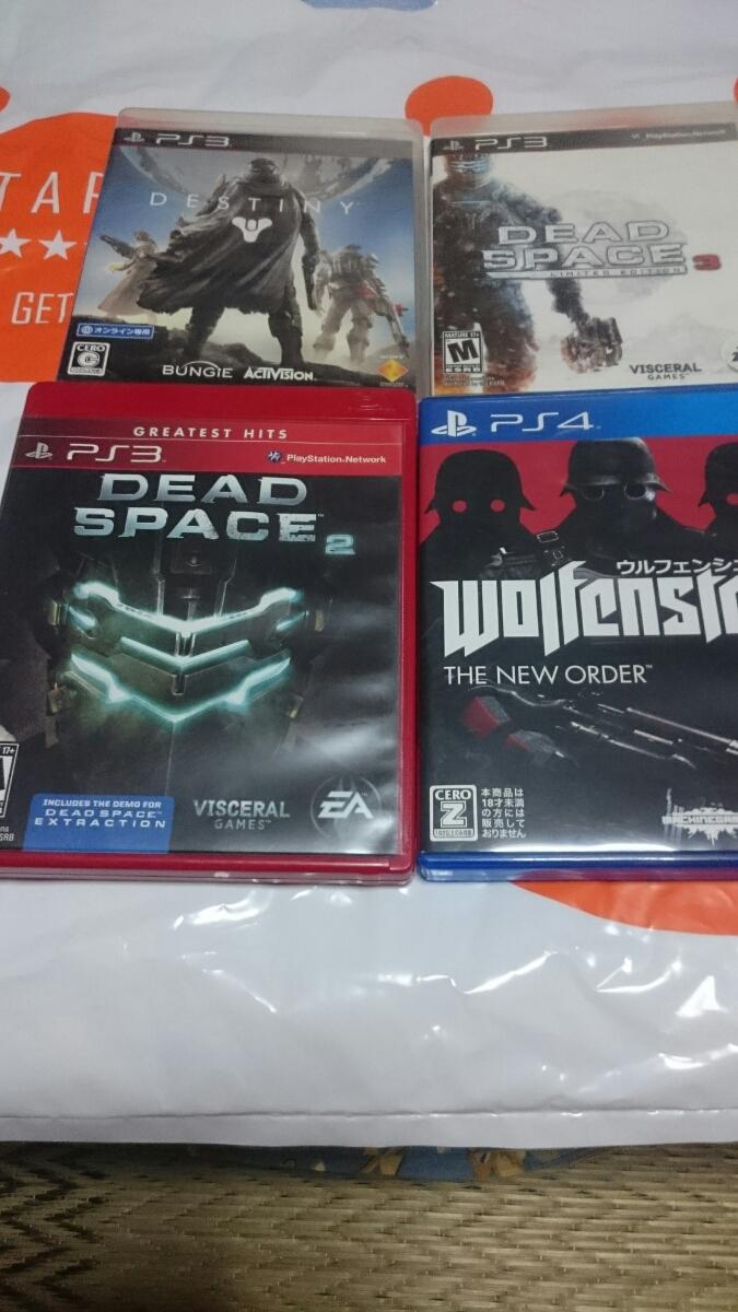 PS4 ウルフェンシュタイン PS3 DEAD SPACE2(海外版)&DEAD SPACE3(海外版)&DESTINY 中古ソフト4本_画像2