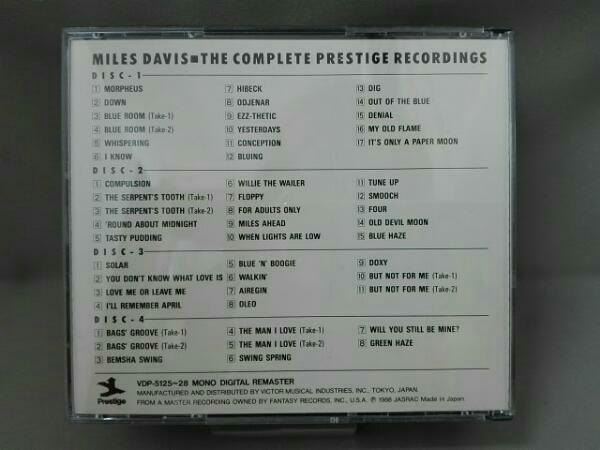 マイルス・デイヴィス/コンプリート・プレスティッジ・レコーディングス【CD】_画像2
