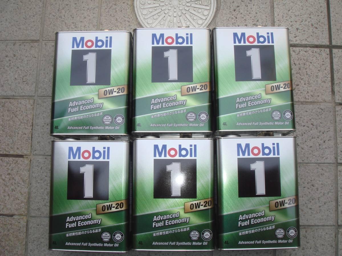 モービル1 Mobil1 0W-20 6缶セット 24リッター EC