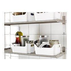 ☆ IKEAイケア ☆ VARIERA ボックス, (ブラック、グリーン、グレー、レッド、ホワイト の中から好きなカラー4個セット)送料750円~ u _画像2