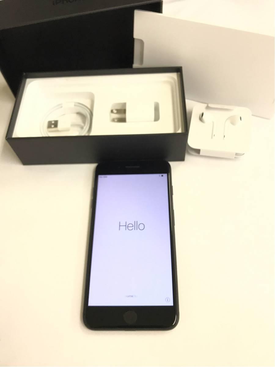 1円~新品同様 SIMロック解除 iPhone7 plus 128GB ジェットブラック 付属品完品新品 アップル アイフォーン SIMフリー 送料無料!!