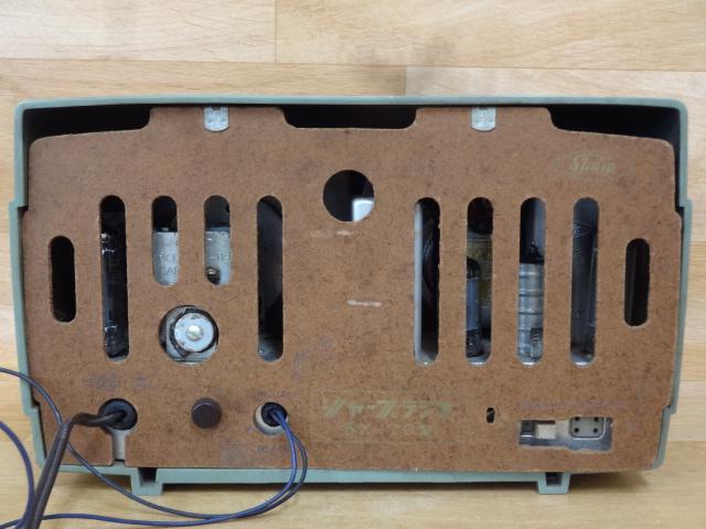ドール 古い真空管ラジオ シャープ 5X-76型 ジャンク 昭和レトロ_画像2