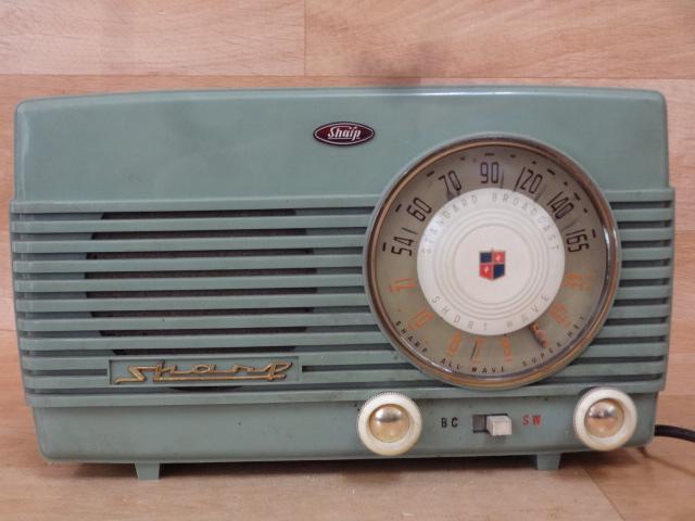 ドール 古い真空管ラジオ シャープ 5X-76型 ジャンク 昭和レトロ