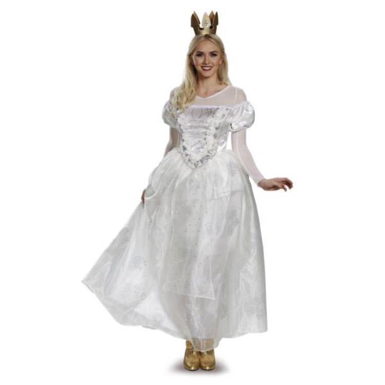 送料無料☆ディズニー コスプレ アリス インワンダーランド 白の女王 ウィッグつき ディズニーグッズの画像