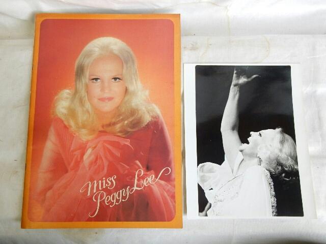 ★ MISS Peggy Lee ★ 来日公演 パンフレット 中古 コレクション
