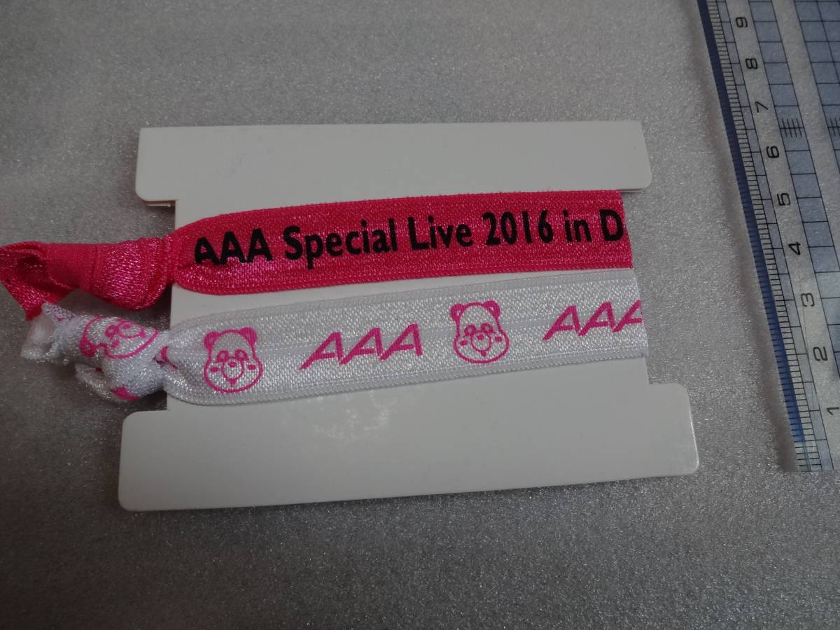AAA え~ゴムブレスバンド ピンク 検)Special Live 2016 in Dome -FANTASTIC OVER- 末吉秀太 桃