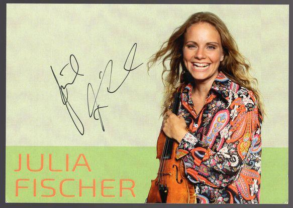 ユリア・フィッシャー(Julia Fischer)☆直筆サイン(Autograph)入りポストカード