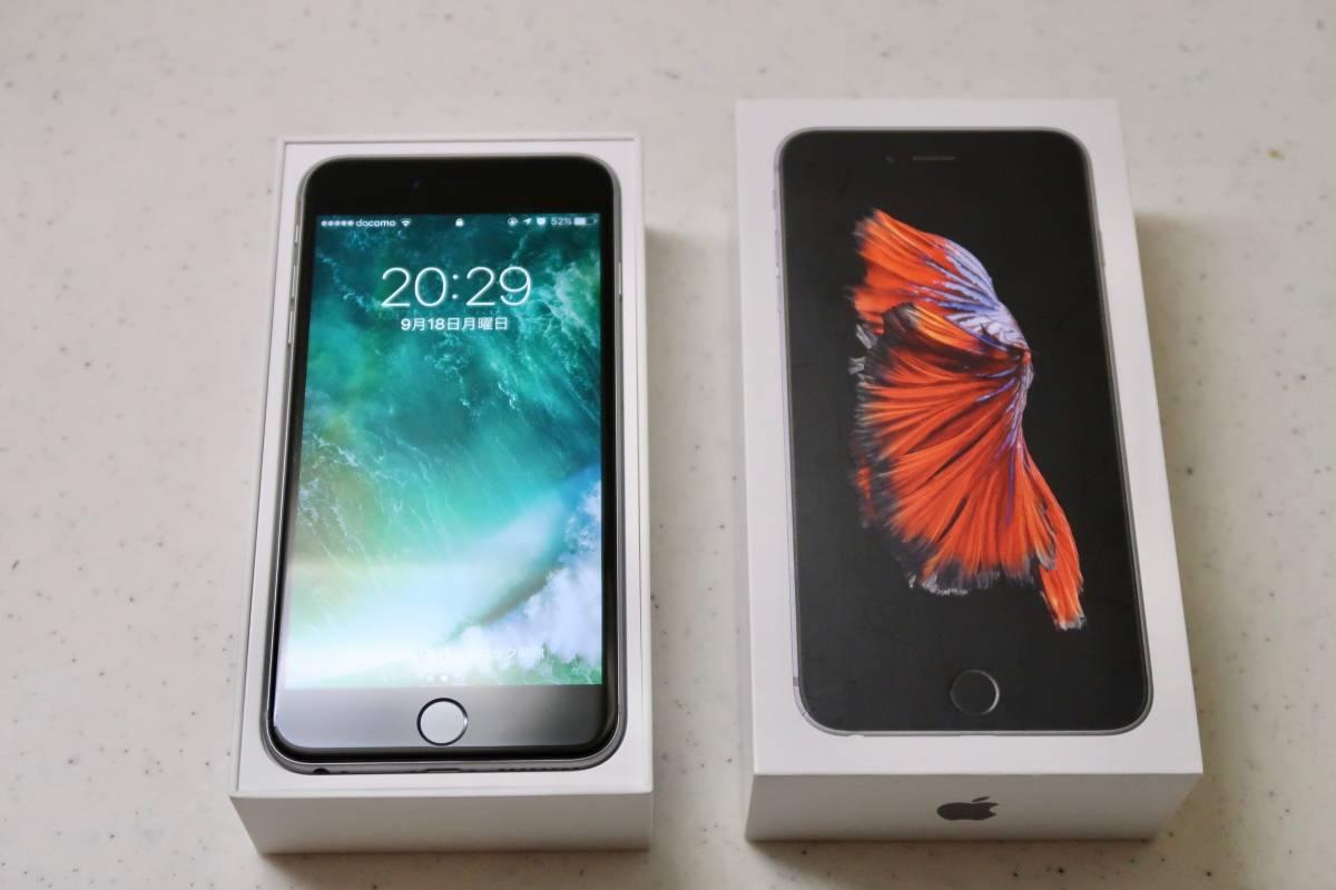 【送料無料・美品】iPhone 6s PLUS 国内正規SIMフリー 64GB スペースグレー アップルストア購入品