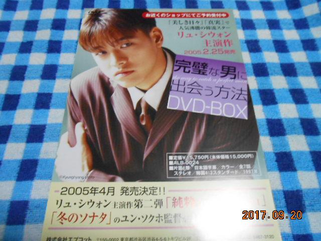 リュシウォン【完璧な男に出会う方法】DVDチラシ!同じの5枚♪