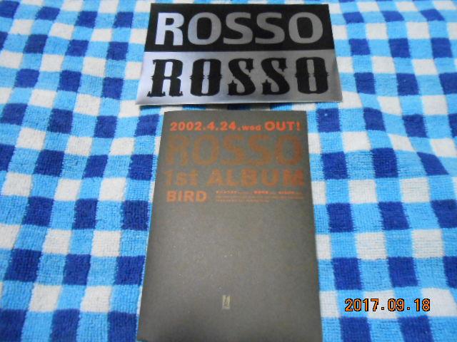 ROSSO(チバユウスケ/照井利幸/MASATO)【BIRD】ステッカー♪