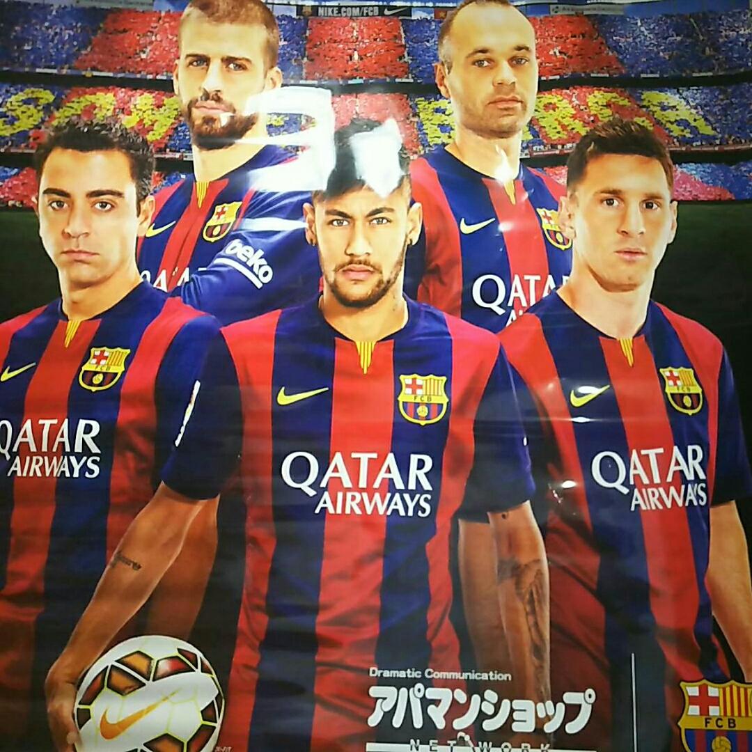 非売品 FCバルセロナ巨大タペストリー グッズの画像