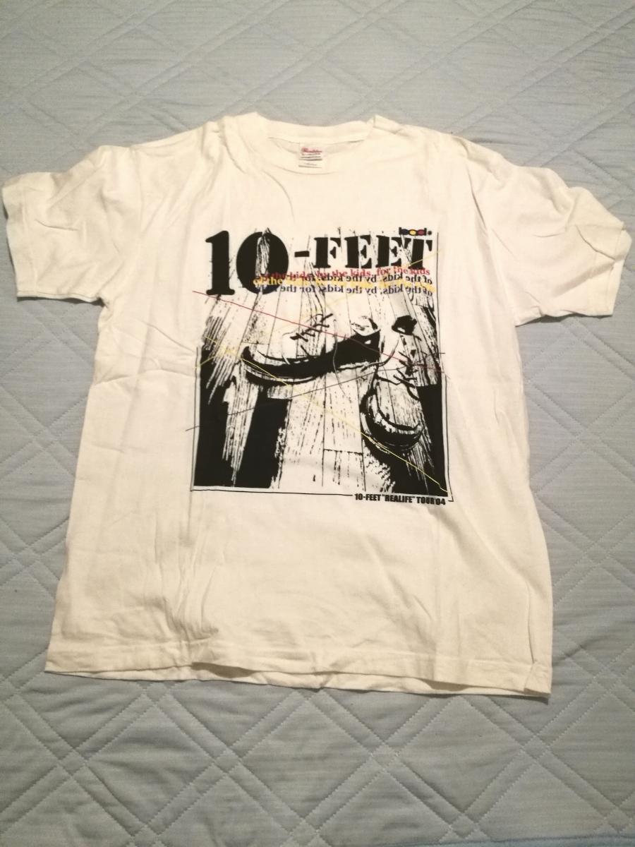 10-FEET 2004年 ツアーTシャツ REAL LIFE リアルライフ テンフィ 白 バンドT ライブグッズの画像