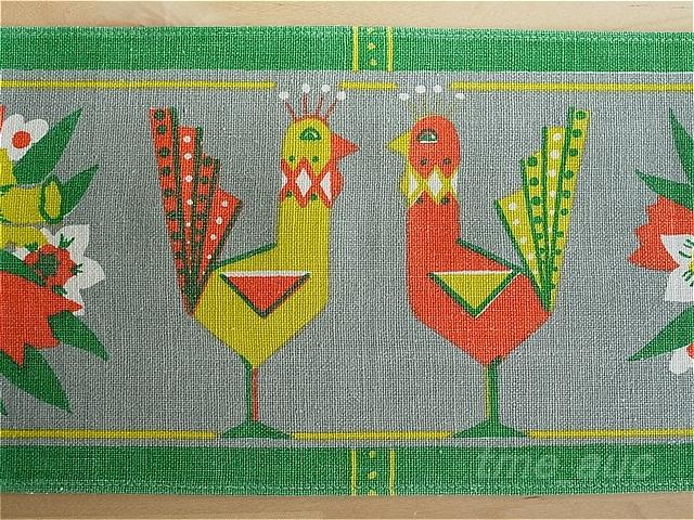 【M152】北欧 Buhler かわいい小鳥カップルのテーブルランナー