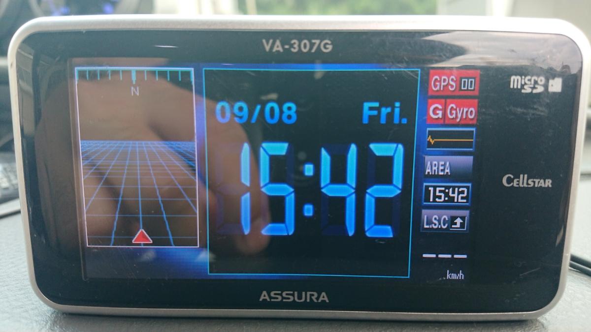 セルスターレーダー探知機 ASSURA VA-307G!!!