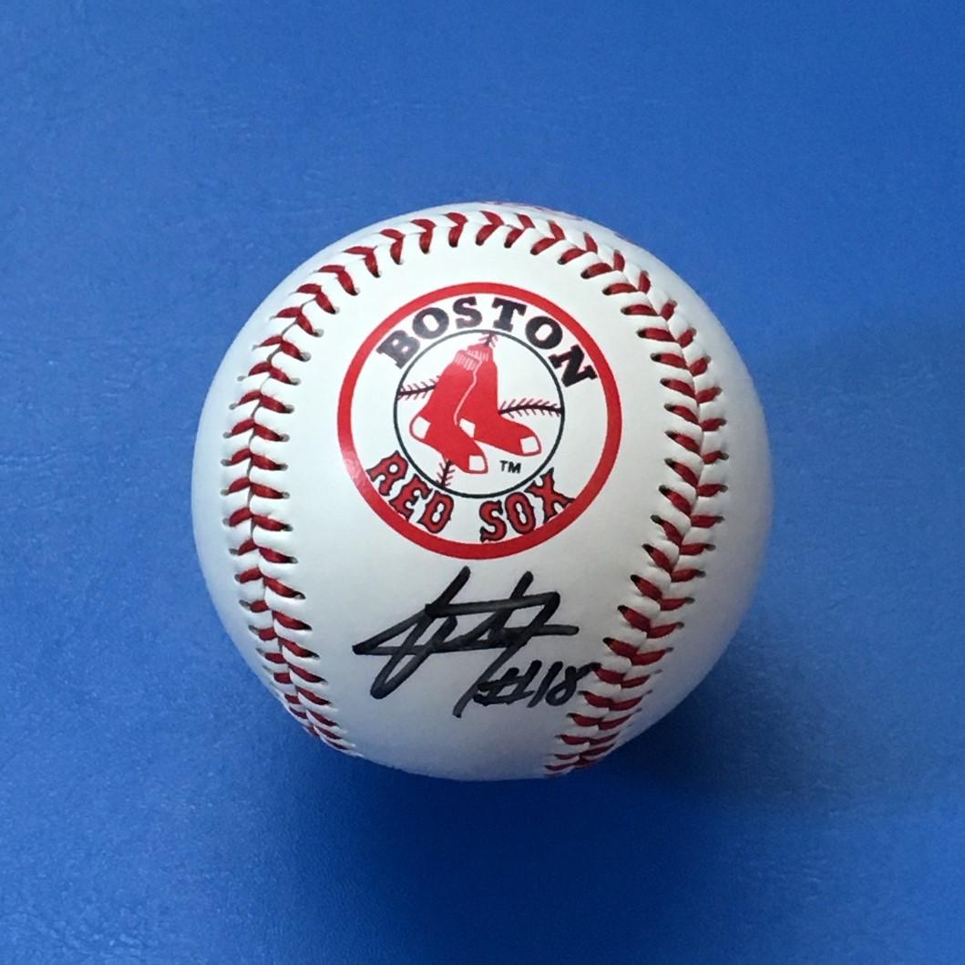 MLB●レッドソックス 松坂大輔 #18 直筆サインボール グッズの画像