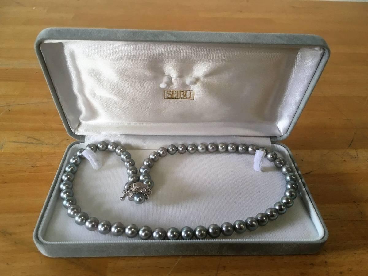 (7) SEIBU 黒真珠 ネックレス