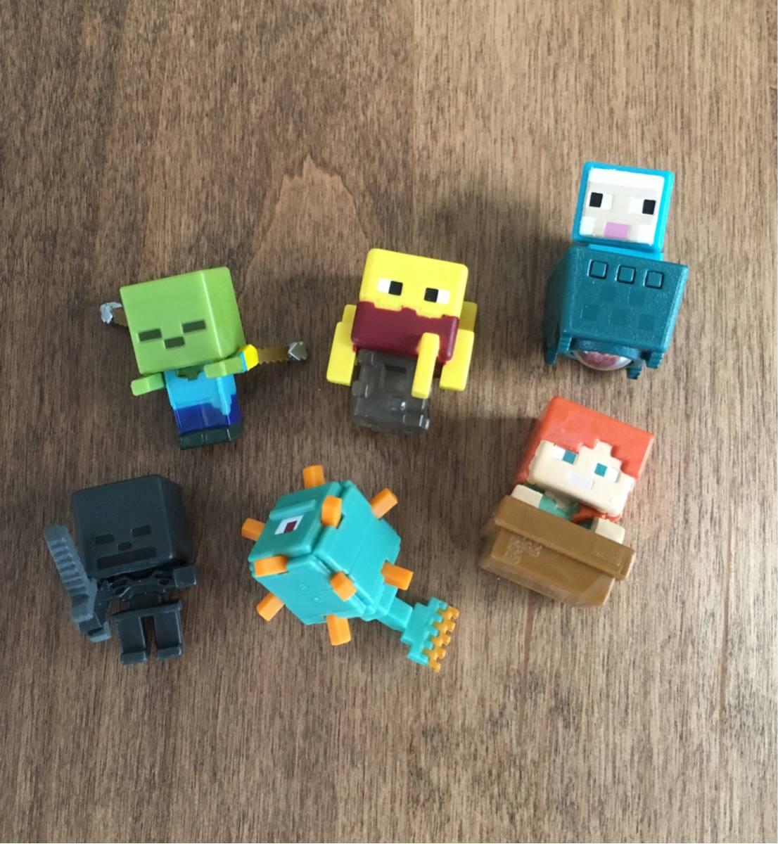 マインクラフト Minecraft コレクタブルミニフィギュア 6個セット グッズの画像