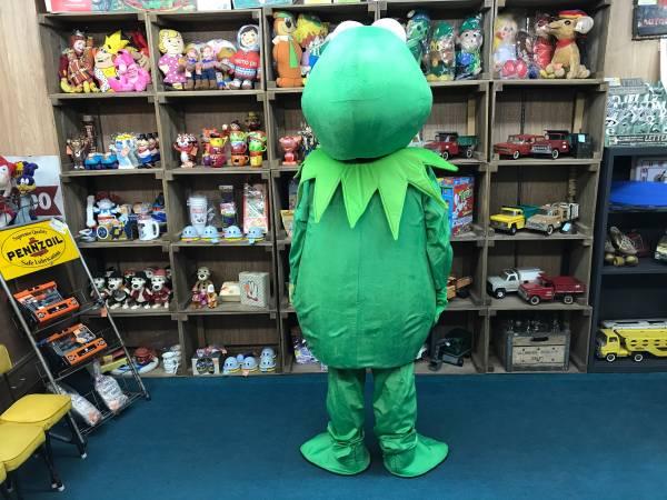 期間限定 セール セサミストリート かえる カエル マペット コスチューム 着ぐるみ イベント ハロウィン パーティー Kermit the Frog_画像2