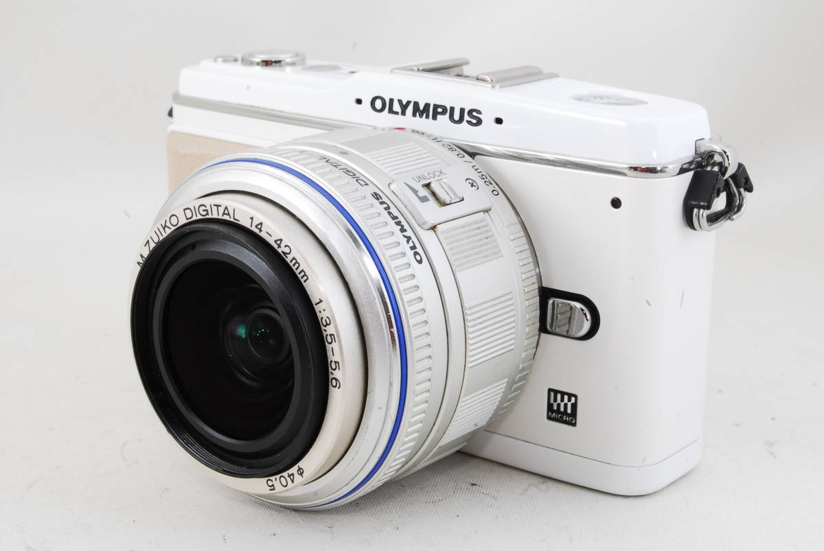★人気のホワイト★オリンパス OLYMPUS オリンパス PEN E-P1 14-42mm ♯419