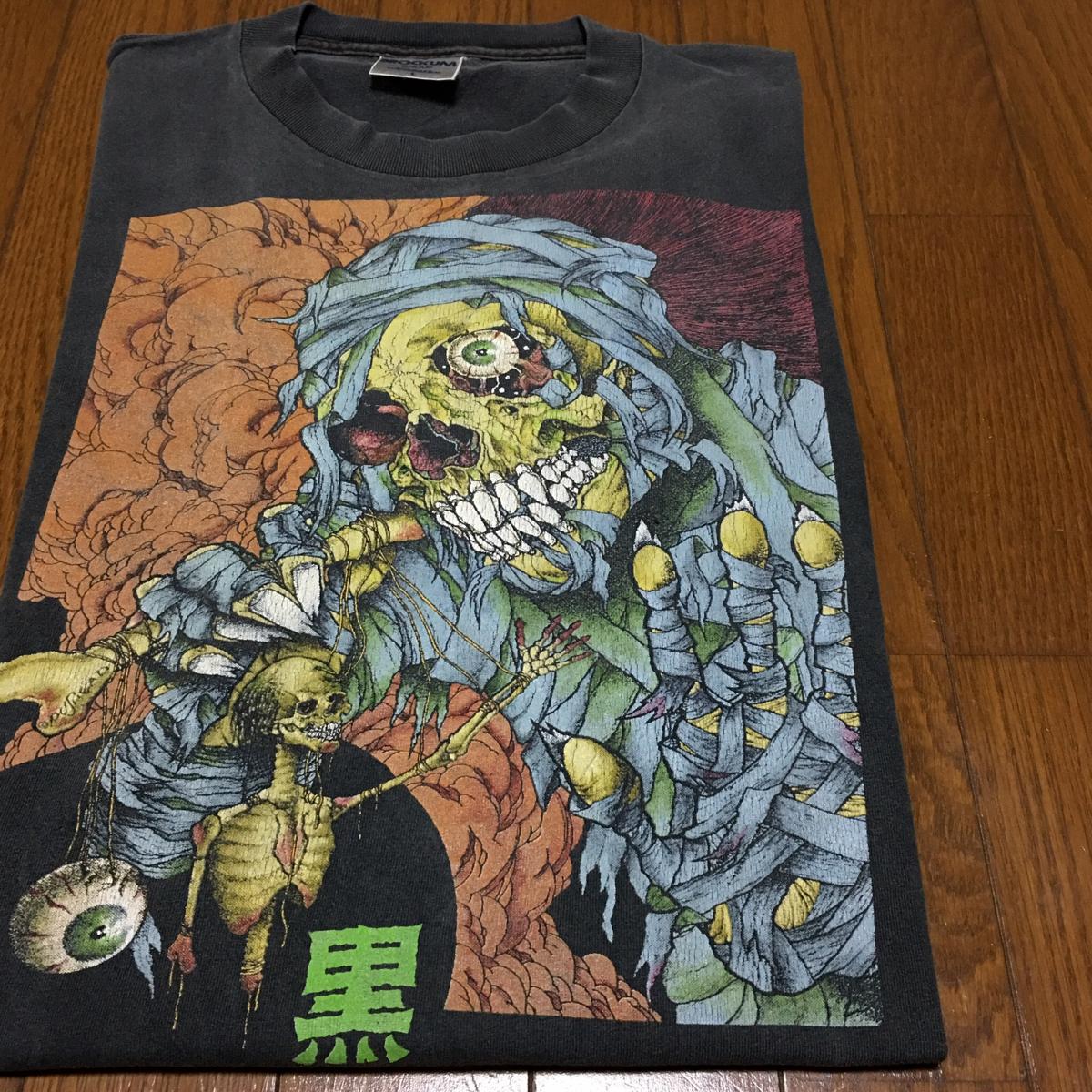 パスヘッド 黒ライン ヴィンテージ オールドスケート Tシャツ 90年代 PUSHEAD