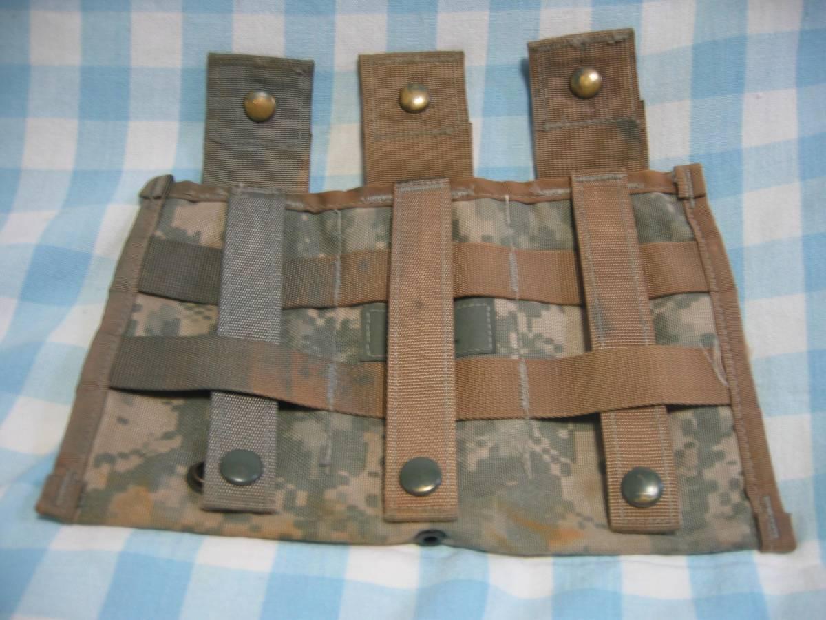 米軍実物 M16、M4等30Rマガジン3連MOLLEⅡマガジンポーチ_画像2