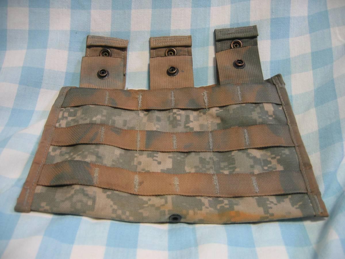 米軍実物 M16、M4等30Rマガジン3連MOLLEⅡマガジンポーチ_画像1