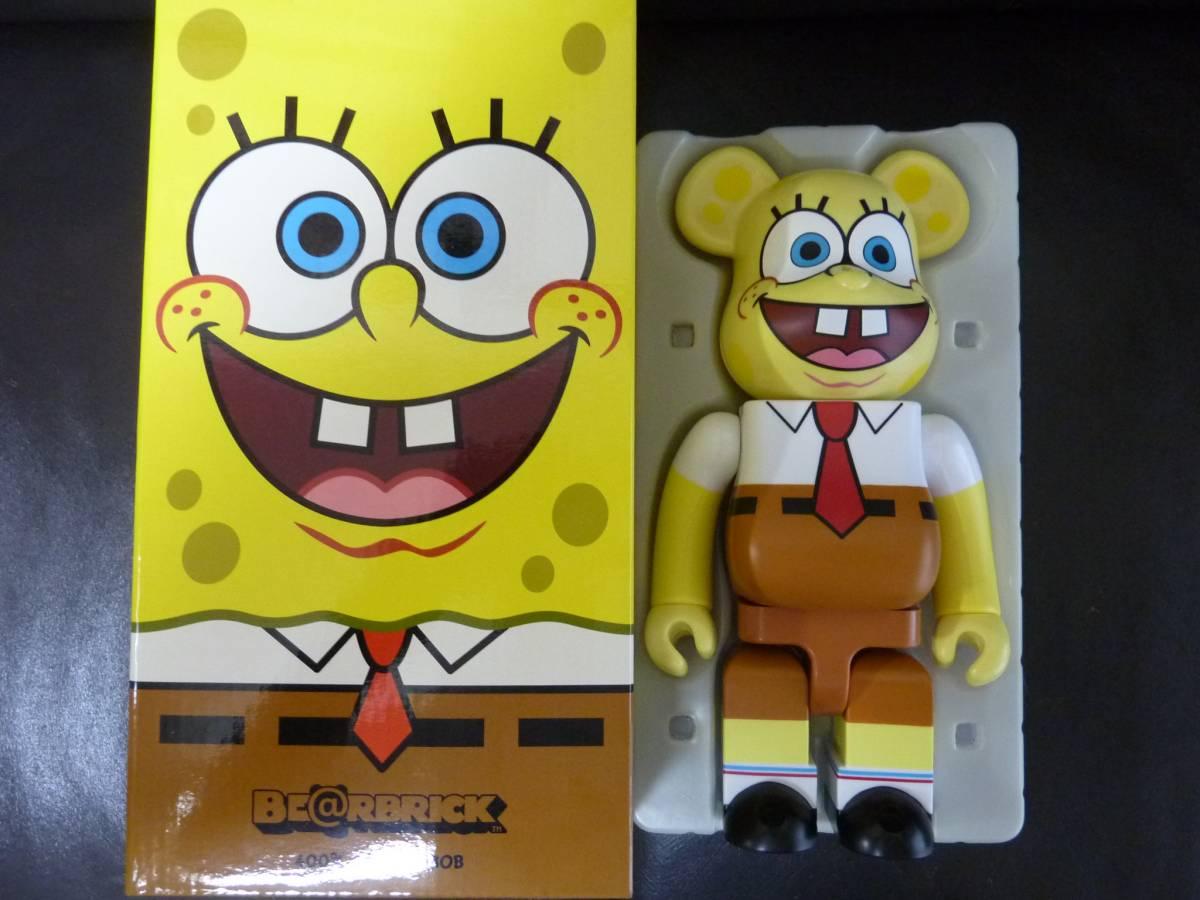 メディコムトイ ベアブリック スポンジボブ 400% BE@RBRICK SpongeBob ヤマシロヤ 限定 中古美品 グッズの画像