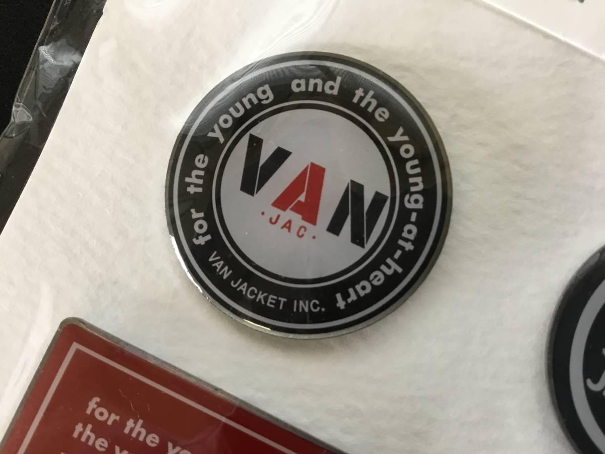 完売 限定 VAN JAC ヴァン ヂャケット ピンバッジ 5個セット 未開封新品 丸VANピンバッチあります。/ Kent SCENE アイビー トラッド_画像3