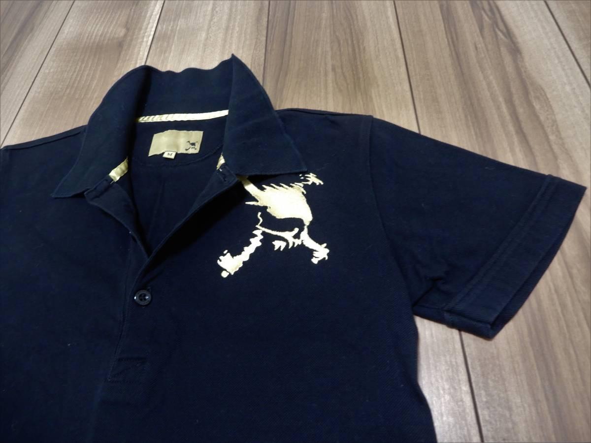 美品 オークリー ゴルフ プレミアム スカル ポロシャツ M ブラック/ゴールド 黒/金 半袖シャツ 16,200円 販売終了モデル