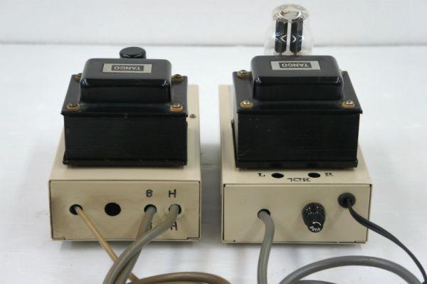E11910】自作 真空管 パワーアンプ ? 2台セット 現状(TANGO:LH-150、PH-120)_画像2