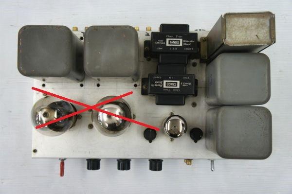 E14312】自作 真空管 コントロールアンプ WESTERN ELECTRIC 205E ×2 使用 ジャンク_画像2