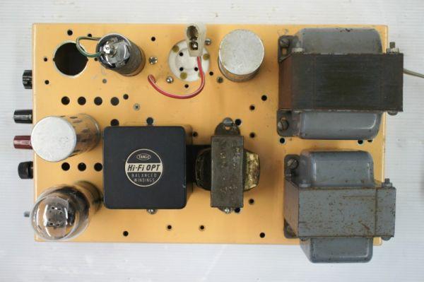 E16110】 ジャンク 自作 真空管 モノラルアンプ TANGO:H-5S 使用_画像2