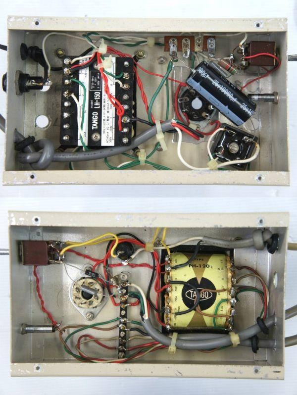 E11910】自作 真空管 パワーアンプ ? 2台セット 現状(TANGO:LH-150、PH-120)_画像3