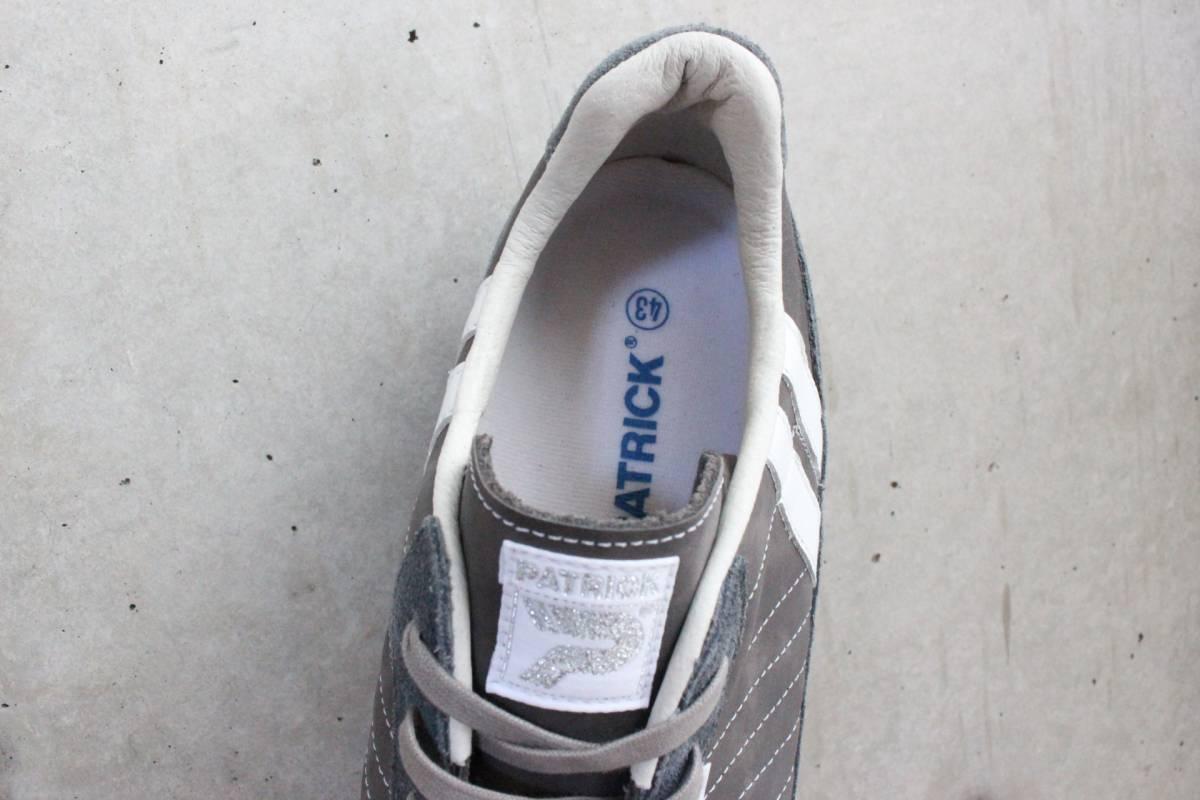 PATRICK パトリック MARATHON マラソン オールスエード スニーカー 43 グレー 灰白 日本製_画像2